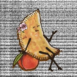 Чебурек с карамелизированным персиком